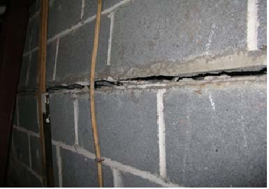 Foundation repair basement walls cracked leaning or bowing for Block wall foundation