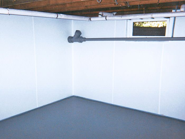 Bright White Wall System & Basement Finishing
