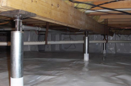 Foundation Repair Crawl Space Jacks